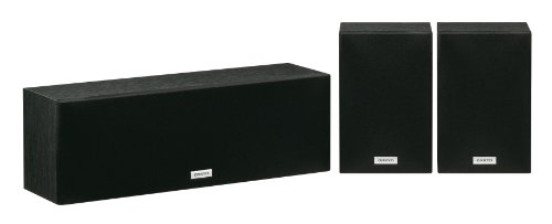 Onkyo SKS-4800(B) Center/Surround Lautsprecher-Set (3-teilig), Zweiwege Bassreflex Center Lautsprecher 130 W, Surround Lautsprecher 60 W, kraftvolle Dynamik für Musik und Film, Schwarz