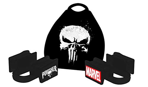 New Age Performance 6DS Sports and Fitness Weight-Lifting Mouthpiece - Lower Jaw - No-Contact - Includes Case - Marvel Punisher