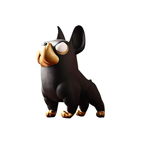 N|A DELICLI 4.1' Polyresin Bulldog Statue Home Decoration Office Countertop Decoration Statues Sculpture Figurine Ornament Home Arts and Crafts Gift,Black