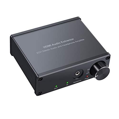 Adaptador Divisor De Extracción De Audio HDMI HDMI a HDMI + RCA Convertidor De Audio Estéreo De 3,5 Mm con Convertidor De Control De Volumen