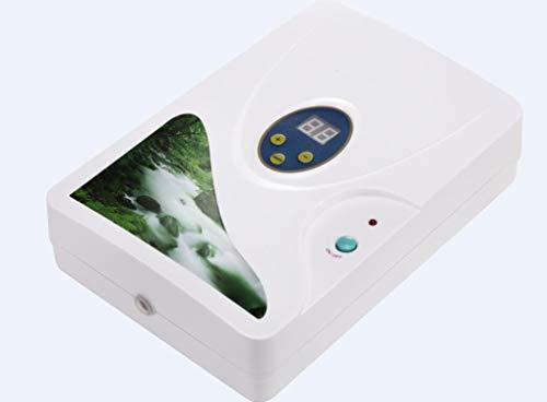 Evaky 600 MG generador de ozono purificador de Aire ozonizador ozonizador ozono ozono concentrador de oxígeno portátil purificador de Agua esterilización (Blanco)