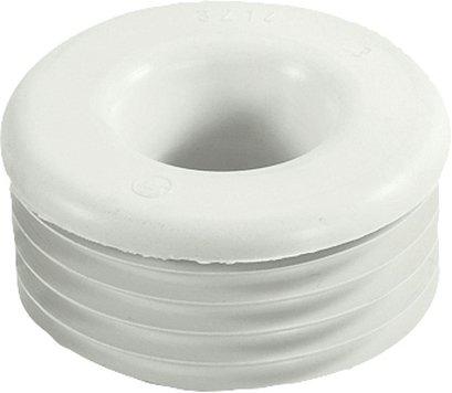 Gummi-Spülrohrverbinder hell, ohne Rosette