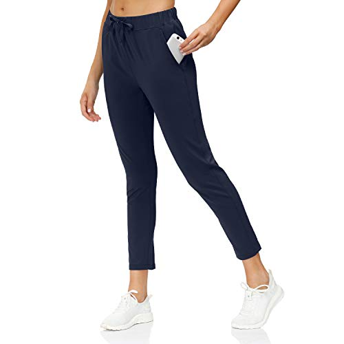 Butrends Pantalon de Jogging décontracté à Cordon Femme Pantalon Taille Elastique Pantalon de Jogging pour Sport Yoga et Fitness avec Poches 2 en 1