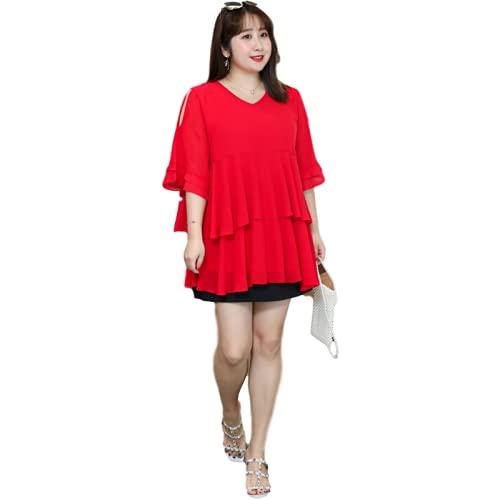Camiseta Holgada de Costura de Gran tamaño para Mujer, Moda Hueca, Tendencia, Manga Corta, Color sólido, Ropa de Calle, Informal, cómodo, Jersey 7XL