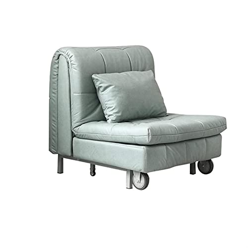XYJHQEYJ Sofás Silla Sofá Plegable Camas con Rueda, Soltura de sofá Cama Sofá Sillón Sillón de Esquina, Sofá de la Oficina de la Sala de Estar, Verde