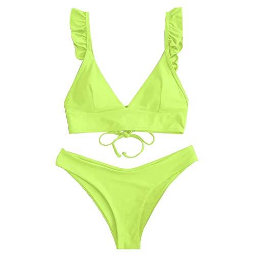 LEEDY Bademode Sale Badeanzug FüR Damen High Cut Mit V-Ausschnitt Zwei Stücke Bikini-Badebekleidung Badeanzug Bademode Günstige Mode Auf Rechnung