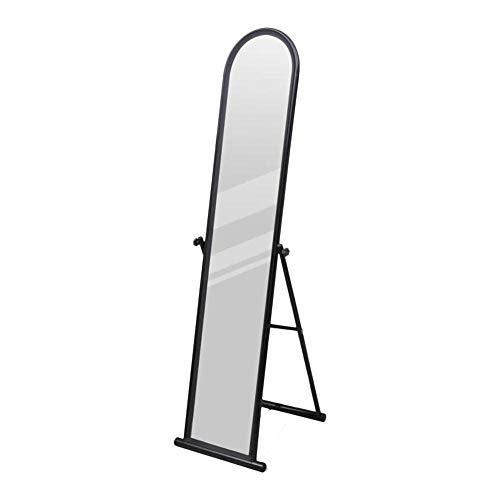 AYNEFY Ganzkörperspiegel,Rechteckiger Schminkspiegel Freistehender Bodenspiegel in voller Länge rechteckig - Schwarz
