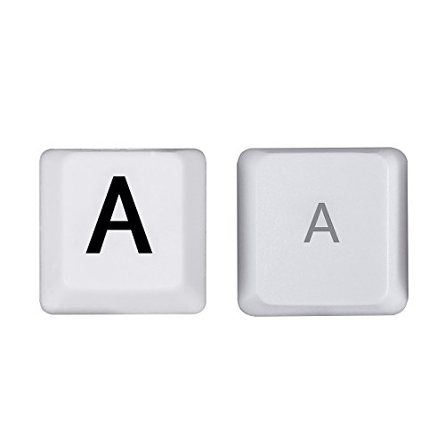 HDE Large Print Computer Keyboard Wired USB High Contrast White with Black Oversized Letters for Visually Impaired Low Vision Individuals