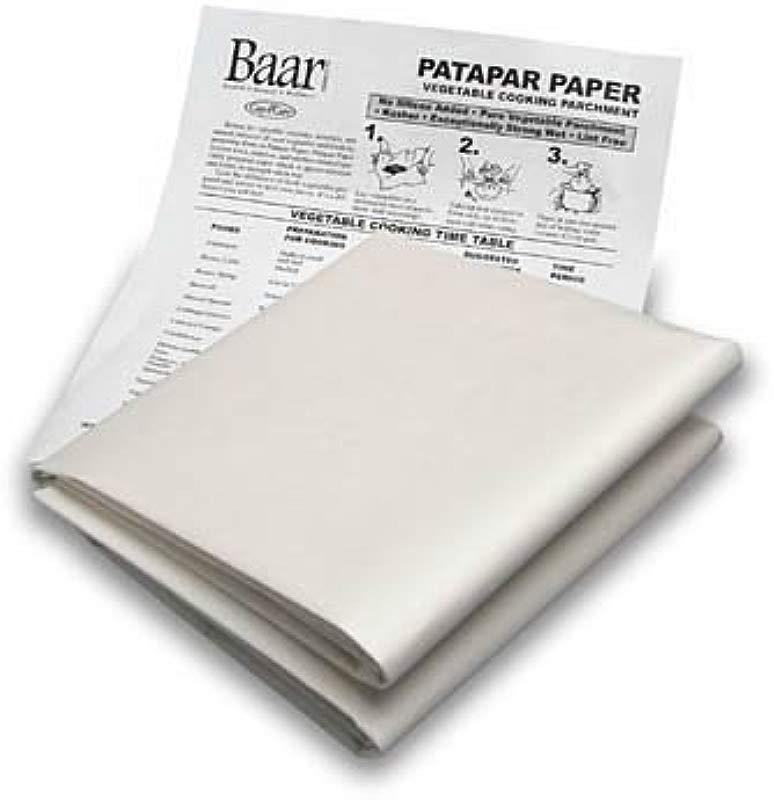 Baar Patapar Paper Vegetable Cooking Parchment 24 X24 6 Reusable Sheets