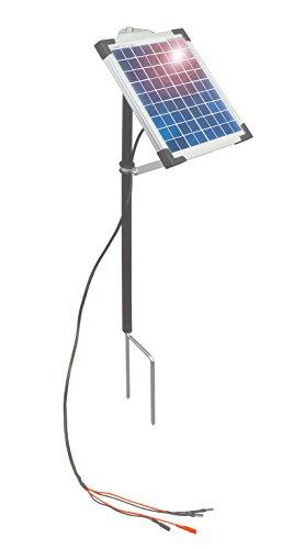 Eider 5-Watt Solarerweiterung für Alle 9-Volt Weidezaungeräte - verdoppeln Sie die Batterielaufzeit - Solar Weidezaun
