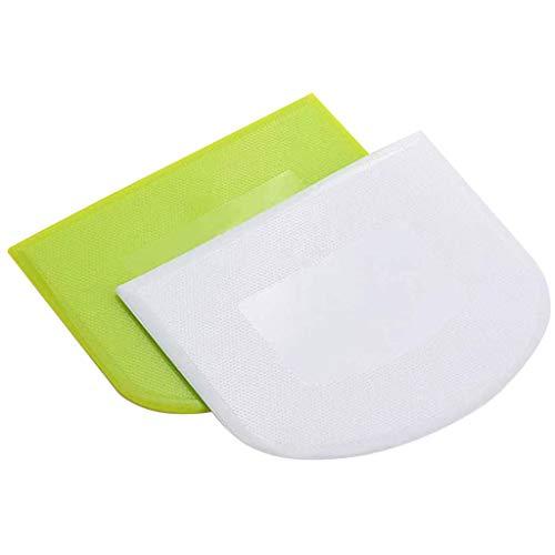 A/B 2/3/10PCS Teigschaberkarte,Flexibler Teigschaberkarte Teigspachtel aus Kunststoff Schüsselschaber Kuchen,Teig Schaber Schneider Teigspachtel zum Teigteiler Backen Brot Kuchen Torten (2PCS)