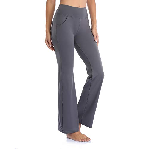 GIMDUMASA Pantalón de Yoga Mujer Pierna Ancha Salón Bootcut Leggings Alta Cintura...