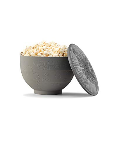 W&P Limited Star Wars Collection Mikrowellen-Popcorn-Silikon-Popcorn-Maschine Rebel Allianz Battle of Endor, faltbare Schüssel, BPA-frei, umweltfreundlich, abfallfrei, 9,3 Tassen Popcorn, Schiefer