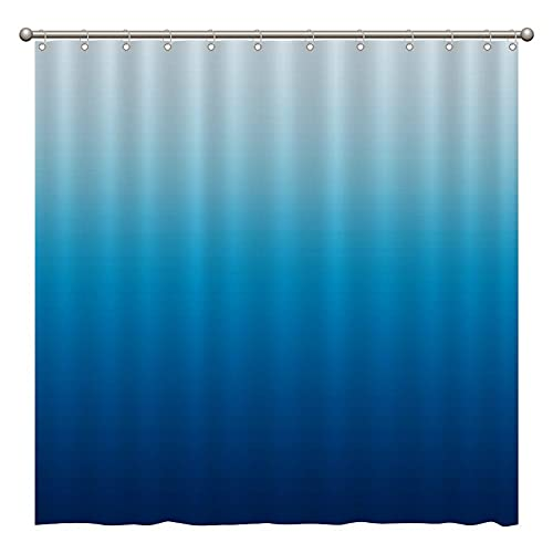 Duschvorhang – Strandhimmel & Ozeanblau Duschvorhänge für Badezimmer Dekor 183 x 183 cm (B x H), wasserdichtes Stoff-Duschvorhang-Set für Zuhause Badezimmer Dekor mit 12 Kunststoffhaken