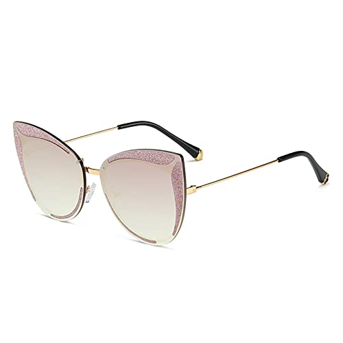 CJJCJJ Gafas de Sol con Montura Rectangular para Mujer Ojo de Gato gradiente Sol Viajes Gafas al Aire Libre Gafas de Fiesta en la Playa