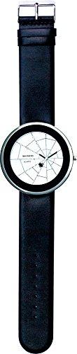 SHEPHERD 15102 Spinnenuhr silberfarben Damen Armbanduhr,(große Version) 50 mm Durchmesser Quarz