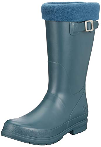 viking VENDELA JR. W/Fleece Sock, Mädchen Gummistiefel, Grün (Dark Green 64), 33 EU (1 UK)