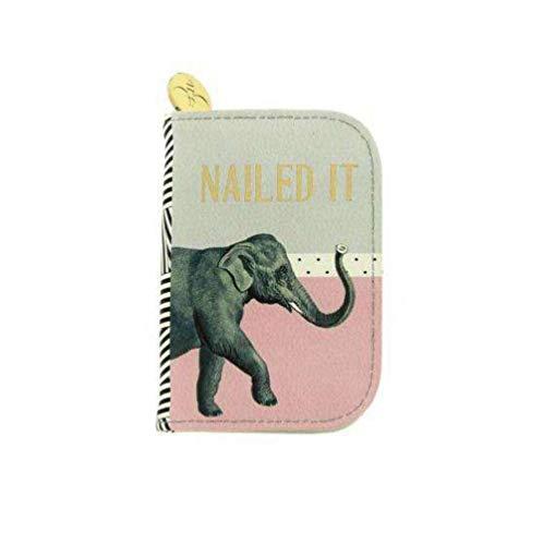 """YVEL2632, mallette de manucure portative, pochette de voyage -""""Nailed - Elephant"""" - design: Yvonne Ellen"""