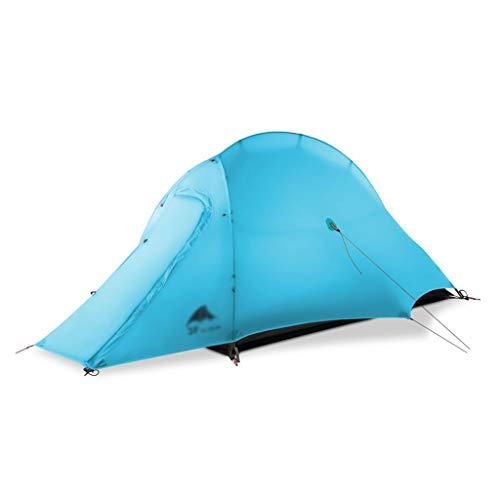 Utilisation multiple Sports de plein air Tente de protection solaire anti-pluie extérieure imperméable et respirante vent Camping réglable Camping Pliable Équipement d'extérieur ( Color : Blue )