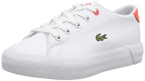 Lacoste Unisex dziecięce buty typu sneaker Gripshot 0721 1 Cuc Sneaker, Wht Pnk, 32 EU