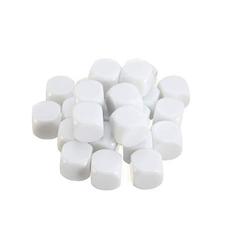 Set di Dadi da Gioco da 25 Pezzi Bianco Standard da 25 mm