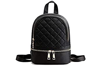 Quilted Backpack  Black