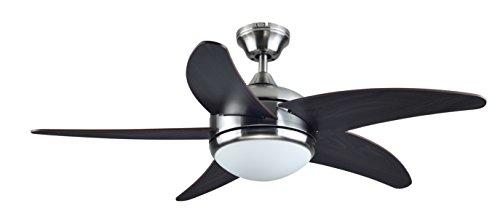 Interfan ETNA Ventilador de techo, Níquel satinado
