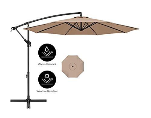 ZXYY Garden umbrella 10 Ft Parasol Offset outdoor market with crank Tilt Tanning Parasol Parasol Garden parasol for beach/pool/patio umbrellas Sun protection