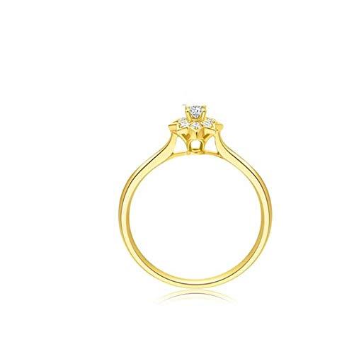 RINGS Anillo de Diamantes Anillo de Diamantes de Oro significativa Taladro del Color Kaleidoscope Anillo de Oro 18k,12