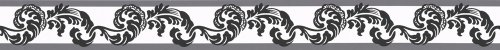 A.S. Création selbstklebende Bordüre Stick ups klassisch 5,00 m x 0,05 m schwarz weiß Made in Germany 904317 9043-17