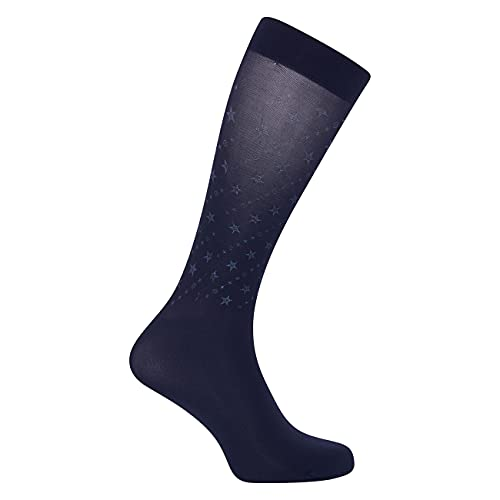 Imperial Riding lange Reit Socken IRHAmbient Stars Up mit Sternenmuster (35-38, navy, numeric_35)