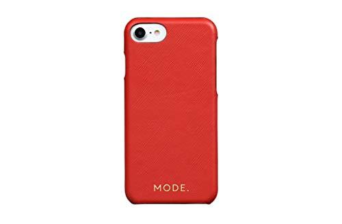 dbramante1928 London - Funda de Piel con Tapa para iPhone 8, 7 y 6, diseño de Flores, Color Rojo
