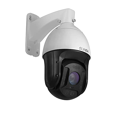 SUNBA 25X Optical Zoom 5MP IP PoE+ Outdoor PTZ Camera, Two-Way Speaking High Speed Security PTZ Dome, Long Range Infrared Night Vision up to 1000ft (601-D25X 5MP Ver)