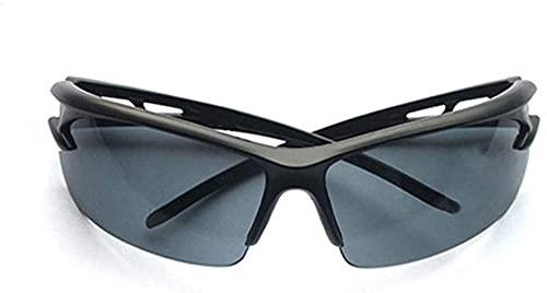 ZRDSZWZ Gafas de ciclismo confiables anti-UV gafas de sol para bicicleta, motocicleta, deportes al aire libre, senderismo, equitación y conducción gafas unisex (color: negro-2)