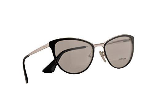 Prada VPR 55T Brille 52-18-140 Schwarz Silber Mit Demonstrationsgläsern 1AB1O1 PR 55TV PR55TV VPR55T