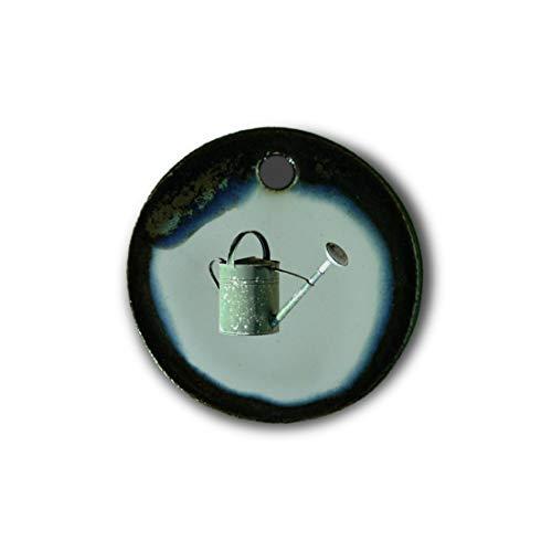 """Muy bonito colgante de cerámica """"jardinería"""" jaspeado en marrón-azul-verde;"""