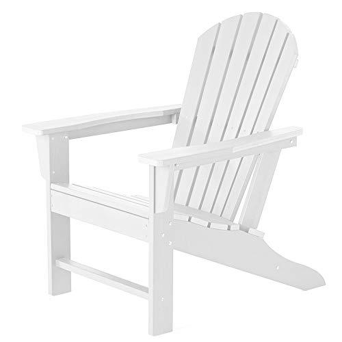 SERWALL Adirondack Chairs Weather Resistant for Patio Garden (White)