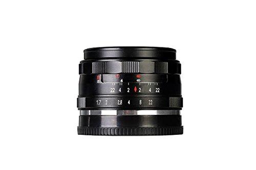 Voking by Bilora Objektiv APS-C 35 mm F1.7 manueller Focus 49 mm für Sony Schwarz
