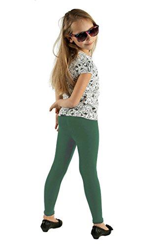 Leggins largos para niñas- Standard Green 7-8 Años