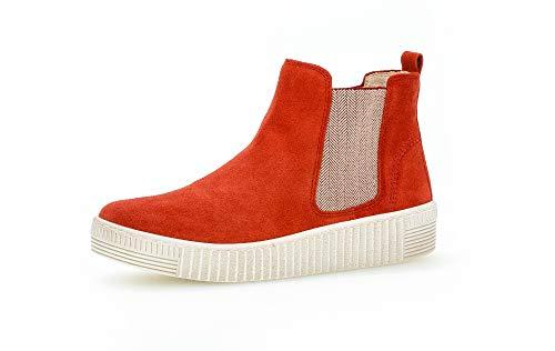 Gabor Damen Sneaker, Frauen Chelsea Boots,Best Fitting,Optifit- Wechselfußbett, Schlupfstiefel Damen Frauen weibliche Lady Ladies,rot,39 EU / 6 UK