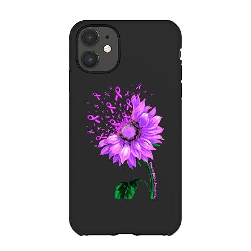 Fibromyalgia Awareness Sunflower Purple Ribbon Fighter Gift Fabric Washable And Reusable Xmas Gift Cases Custom 7019
