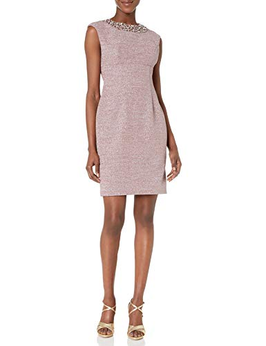 Eliza J Women's Extended Cap Sleeve Sheath Dress, Dust Mauve, 8
