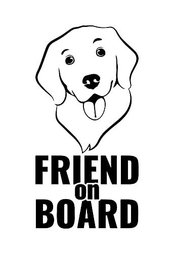 NewTeam Pegatina para coche de perro a bordo Dog on Board (negro)