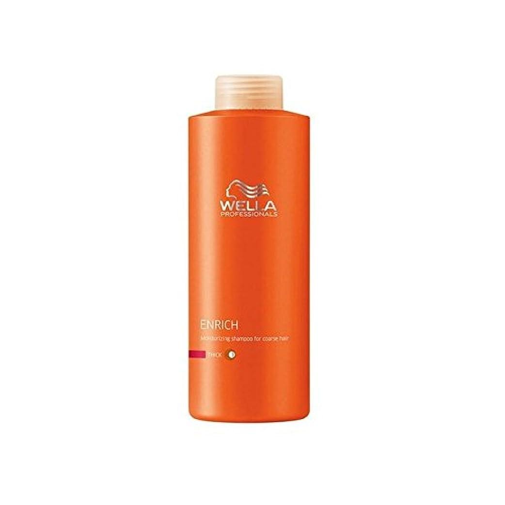 鉛筆恩恵作家ウェラの専門家は粗いシャンプー(千ミリリットル)を豊かに x4 - Wella Professionals Enrich Coarse Shampoo (1000ml) (Pack of 4) [並行輸入品]