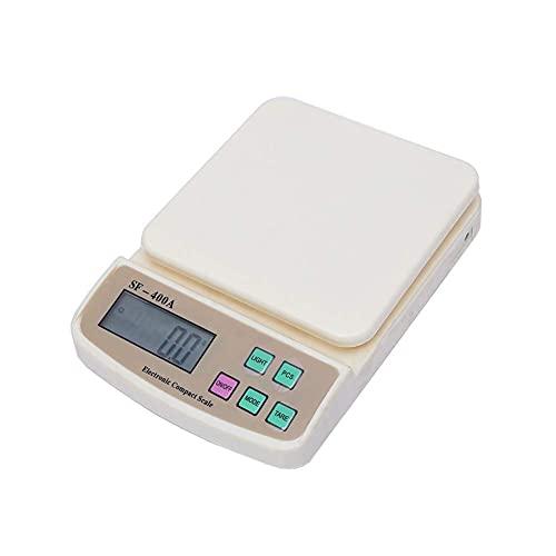QZH Báscula de Cocina electrónica, báscula para Hornear de precisión, báscula Digital para Alimentos con Pantalla LCD (7KG / 1G)