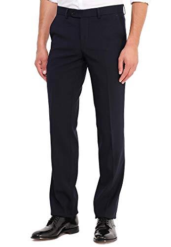 STENSER Heren business pantalon flat-Front, blauw, B3153