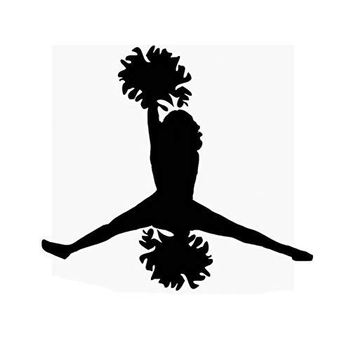 estéticas 12.4 * 11.2cm Fashion Sports Freestyle Gymnastics Decor Pegatina de Coche Vinilo Gráfico C12-1487 (Color Name : Black)