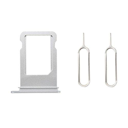 Mobofix Sim Card Tray Holder + 2 Eject Pins for iPhone 8X Silver, Portatarjetas SIM Card Tray SIM Titular de la Tarjeta Plata para iPhone 8X + 2 SIM Aguja Nail Expulsar Pines