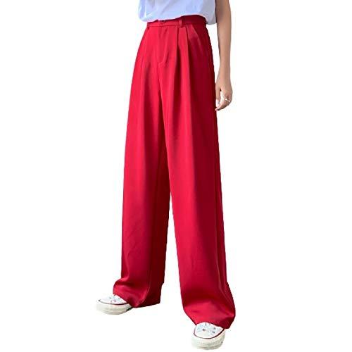 Una Variedad De Colores Pantalones Casuales De Cintura Alta De Moda Pantalones De Traje De Oficina para Mujer Pantalones Sueltos Elegantes De Pierna Ancha
