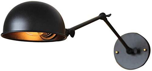 Industriële vintage schommel flexibele arm en zwart metaal lampenkap arm wandlamp verstelbare greep E27 Edison fitting 110-220 V (zonder gloeilamp)